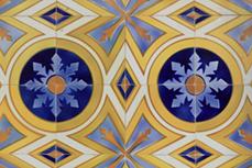 Reproducción múltiple de un azulejo de cerámica antigua (motivo 1)