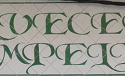 Letrero cerámico para fachada de cervecería