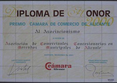 Reproducción en cerámica de diploma de honor