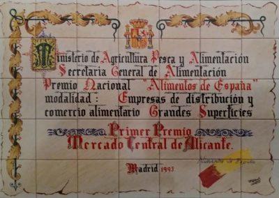 Reproducción en cerámica del premio «Alimentos de España»