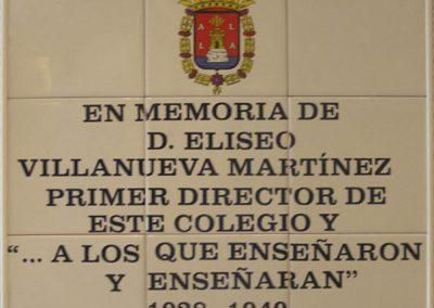 Placa cerámica alusiva al Colegio Campoamor