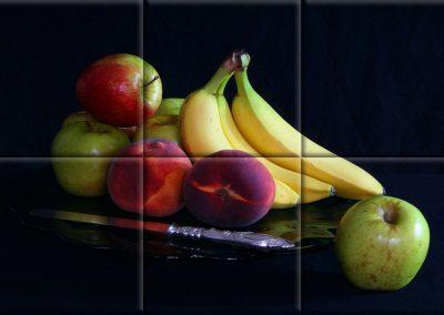 Mural cerámico pequeño bodegón plátanos