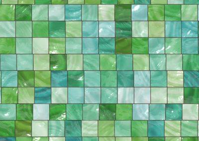 Azulejo imitación gresite colores verdes