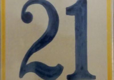 Número en cerámica modelo artesano