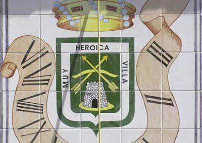 Reloj de sol en cerámica villa de Calpe