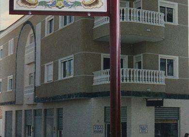 Banderola para nuestros rótulos de calles en cerámica