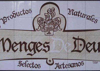 Letrero de cerámica para fachada de empresa