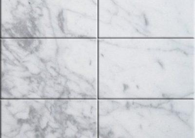 Superficie cerámica imitación mármol blanco carrara